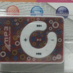 Stylish Mini MP3 Player With Earphones and Data Cable
