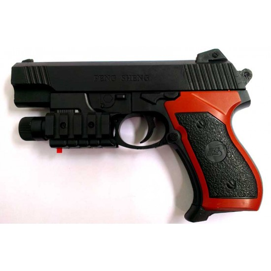 Kids Toy Red Laser & Blue Light Air Soft Gun pistol