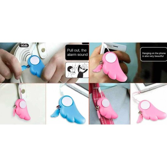 Self Defence Keychain Alarm 90dB Loud Emergency Alarm