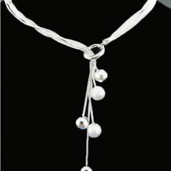 New Fashion High Quality Silver Color Ball Necklace