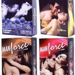 Manforce Multi Flavored Extra Dotted Condom - 4 pack (10 pcs Pack)