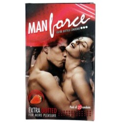 Manforce Strawberry Flavoured Extra Dotted Condom (10pcs Pack)