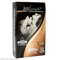 Manforce  Coffee Flavoured Extra Dotted Condom (10 pcs Pack)