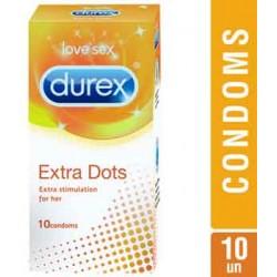 Durex Extra Dot Condoms - 10 Units