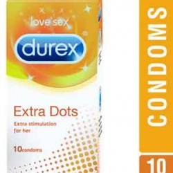 Durex Extra Dot Condoms - 10 Units