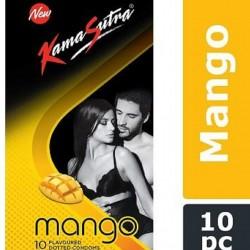 KamaSutra Mango Flavoured Condoms - 10 pcs