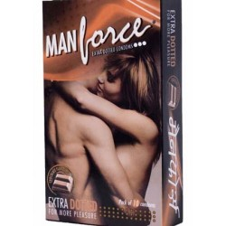 Manforce Chocolate Flavoured Condom - Extra Dotted - 10 pcs Pack