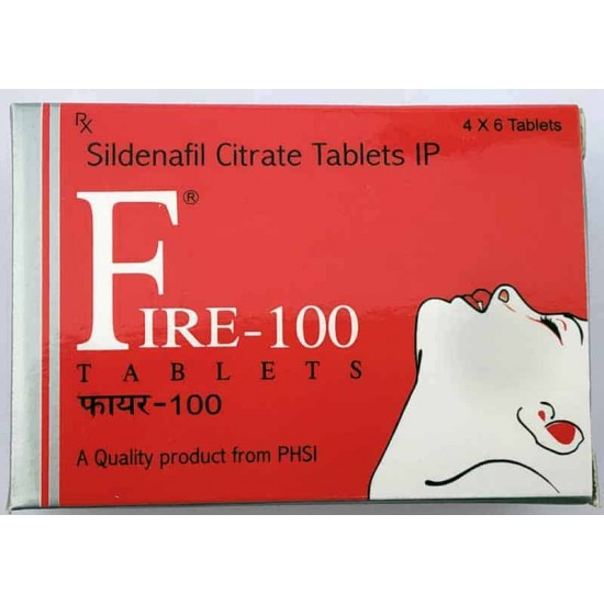 FIRE 100 Mg Tablet for long Sex (6 x 4 Tablet)