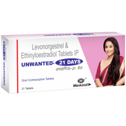 UNWANTED 21 Oral contraceptives Tablet by MANKIND