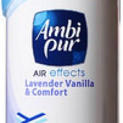 Ambi Pur Air Effects Lavender Vanilla and Comfort Aerosol Air Freshener