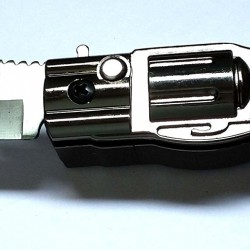 Windproof Flame Cigarette Lighter with Foldable Knife for personal Safety