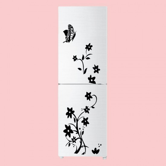 Creative Refrigerator Black Sticker Butterfly Pattern Wall Stickers
