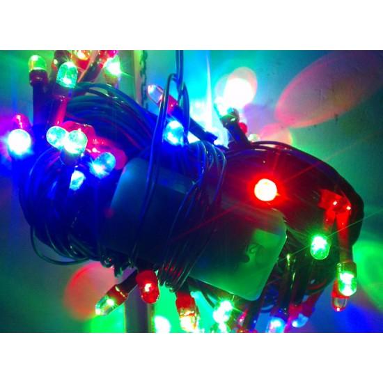 Diwali Home Decoration Multicolor 2 in 1 LED light bulbs (43 Feet)