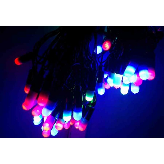 Diwali Home Decoration Multicolor New look RGB LED light bulbs (45 feet Length)