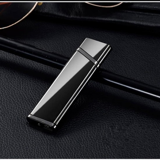 Windproof Usb chared thin Electronic Cigarette lighter
