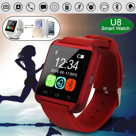 Bluetooth Smart Watch U8 Smartwatch U Watch For Samsung Sony Huawei Xiaomi Android Phones