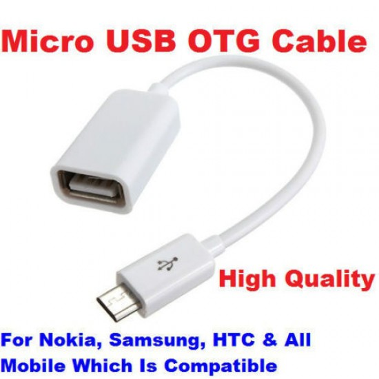 Micro USB OTG Cable to Attach Pendrive Mouse Card Reader Cable Android Phones