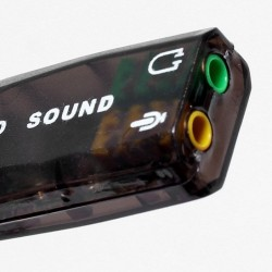 Audio Adapter 3D Sound Card Virtual USB 2.0 Mic/Speaker 5.1 for PC & Laptop