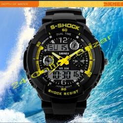 SKMEI Dual Mode Analog Digital LED Wrist Watch