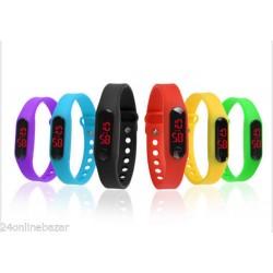 Wrist Band Stylish Digital LED Thin Sports Men Women Kid Wrist Watch