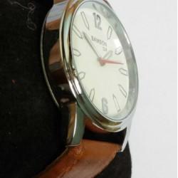 Men's Stylish PU Leather Belt Fashion Wrist Watch