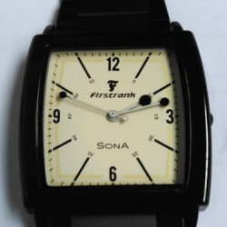 SONA Fastrank Black color Stylish Men Wristwatch