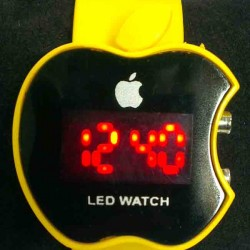 LED Digital apple shape wrist watch for kids (4 color)