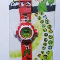 Ben 10 Omniverse Kids Watch with Inbuilt 24 Projector Image of Ben 10 Cartoon Characters