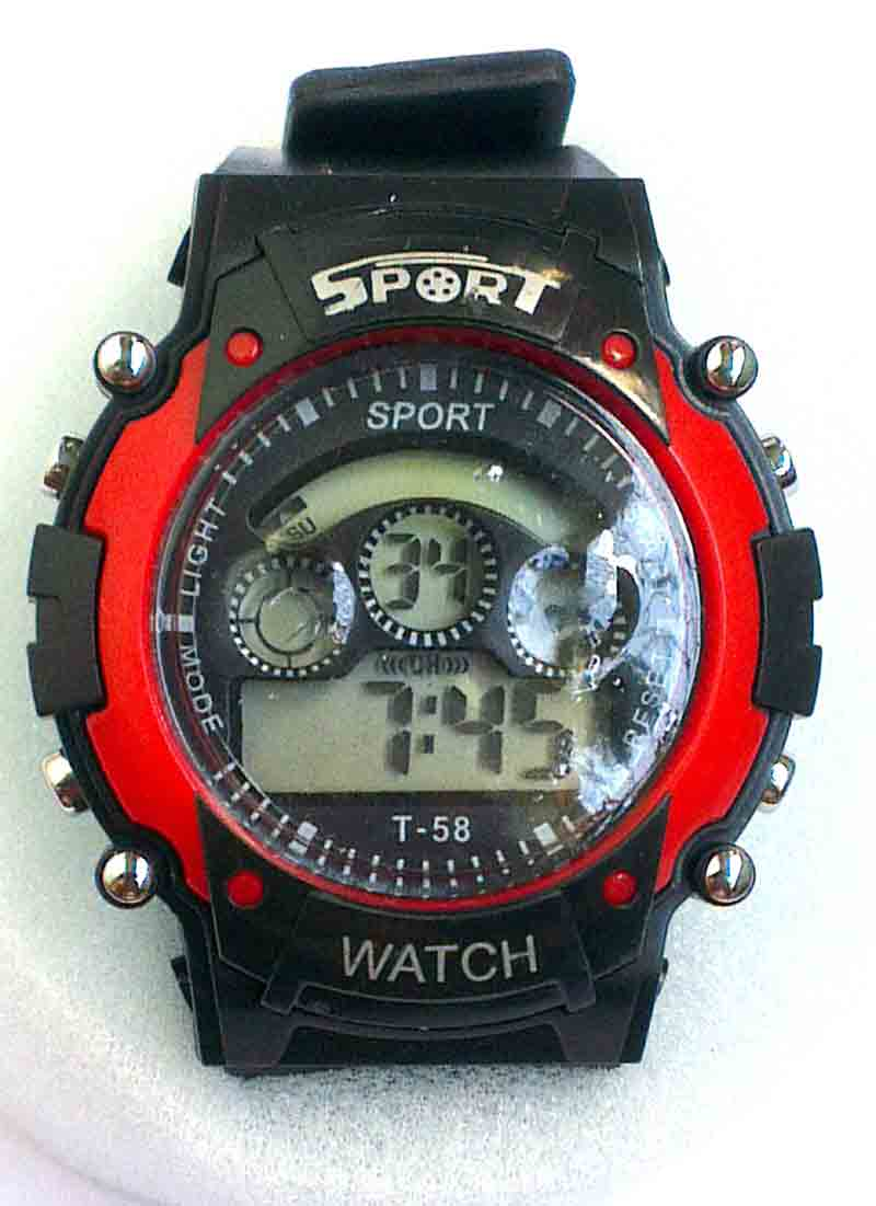 face digital sports watches w uzi gunmetal rectangular black watch campco product
